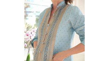 Veste en soie bleu azuréen TL