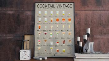 Affiche d'art Cocktail...