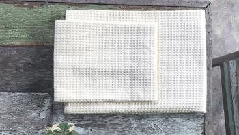Linge de bain en nid d'abeille