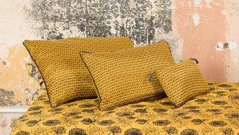 TRIBAL COUSSIN MOUTARDE...