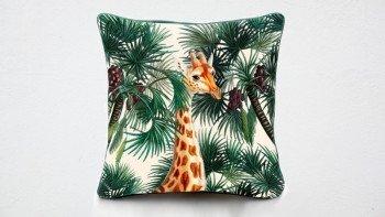 Housse de coussin Girafe -...