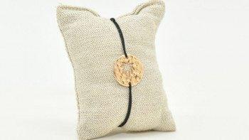 Bracelet médaille Palmier -...