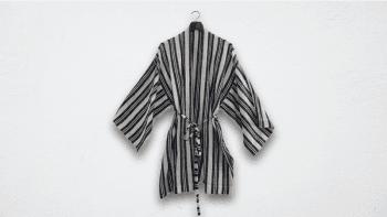 Kimono court à larges...
