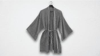 Kimono court à carreaux...