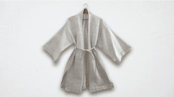 Kimono court filé main