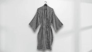 Kimono long à carreaux en...