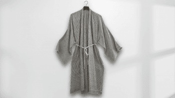 Kimono long à rayures...