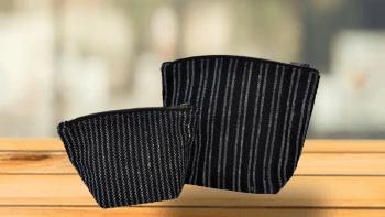 Pochette Trapèze fond noir
