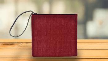 Pochette Plate rouge