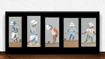 Huile sur bois enfant