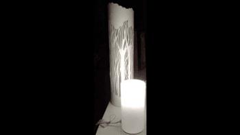 LAMPE FORÊT DE PAPIER