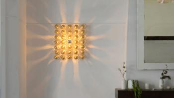 Applique carrée Eco-design SHADOWS Dorée - petit format