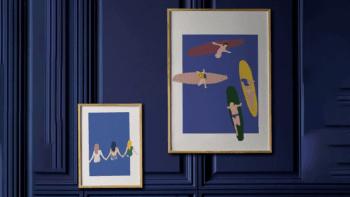 Affiche surfers
