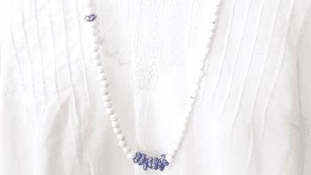Collier Santorin blanc et bleu