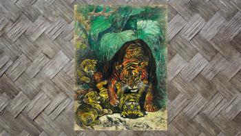 "Tenture Murale ""TIGREAUX""..."