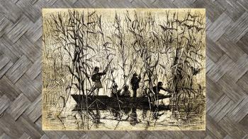 "Tenture Murale ""CHASSE DANS..."