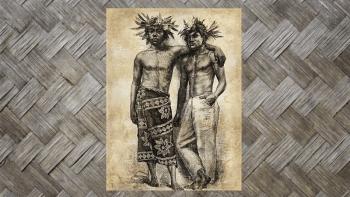 "Tenture Murale ""TAHITIENS""..."