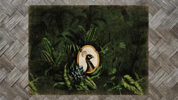 """Tenture Murale """"PAON ROYAL..."""
