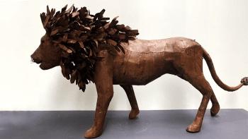 """Animal métal recyclé """"LE LION"""""""